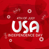 4th of July independence day. Illustration of a Banner for 4th of July independence day Stock Photos