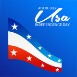 4th of July independence day. Illustration of a Banner for 4th of July independence day Stock Images