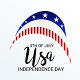 4th of July independence day. Illustration of a Banner for 4th of July independence day Stock Photo