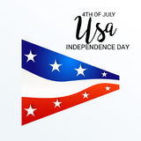 4th of July independence day. Illustration of a Banner for 4th of July independence day Royalty Free Stock Image