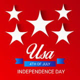 4th of July independence day. Illustration of a Banner for 4th of July independence day Stock Image