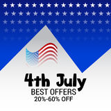 4th of July independence day. Illustration of a Banner for 4th of July independence day Stock Photography
