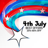 4th of July independence day. Illustration of a Banner for 4th of July independence day Royalty Free Stock Photos