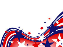 4th july independence day. Illustration of blue and red stars and stripes Stock Photo
