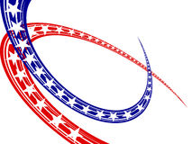 4th july independence day. Illustration of blue and red stars and stripes Stock Images