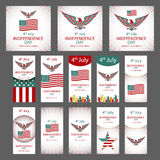 4th July Independence day and for Presidential election HUGE vector object set isolated on white. VECTOR EPS 10. Art Royalty Free Stock Image