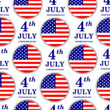 4th of July. Independence Day seamless pattern. United states of. America. USA symbols. American flag. Holiday Vector Illustration