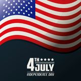 4th july independence day united states of america flag waving. Vector illustration Stock Photography