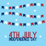4th of july - Independence Day in United States of America greeting card. American national flag color illustration Stock Images