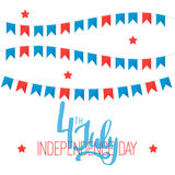 4th of july - Independence Day in United States of America greeting card. American national flag color illustration Royalty Free Stock Photography