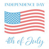 4th of July, independence day. Of the United States of America,  grunge poster Royalty Free Stock Photo