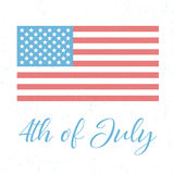 4th of July, independence day. Of the United States of America,  grunge poster Stock Photos