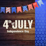 4th of July Independence day of United States of America. Poster, Banner. 4th July - Independence day of United States of America - festive set with different royalty free illustration