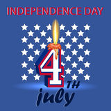 4th July independence day United States of America.A poster depi Royalty Free Stock Image