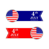 4th of July. Independence Day. United states of America symbols. USA. American flag. Holiday Stock Photo