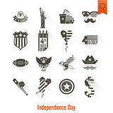 Independence Day of the United States. 4th of July, Independence Day of the United States, Simple Flat Icons. Vector Royalty Free Stock Photos