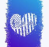 4th of july, Independence Day in USA. Abstract heart with american flag, patriotic sign, eps 10 file, easy to edit Stock Images