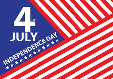 4th July Independence day of the USA holiday celebration background vector. Illustration Stock Photos