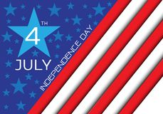 4th July Independence day of the USA holiday celebration vector. Illustration Stock Images