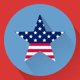The 4th of July. Independence day USA. Patriotic star. National colors. United States of America. Flat illustration royalty free illustration