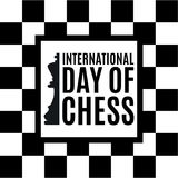 20th of July - international day of chess concept. beginning of a chess game on the old Board Stock Photos