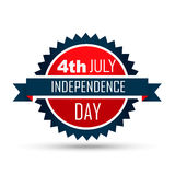 4th of july label Royalty Free Stock Photos