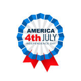4th of july label. American 4th of july vector badge design Royalty Free Stock Photo