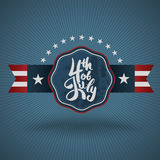 4th July lettering for Independence Day. Royalty Free Stock Photography