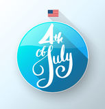 4th July lettering for Independence Day. Royalty Free Stock Image