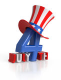 4th of July letters. Royalty Free Stock Images