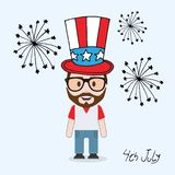 4th july male character royalty free illustration