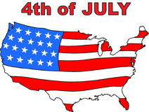 4th of july national day of USA. 4th of july national day of United States of America royalty free illustration