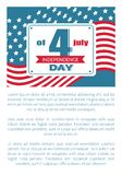 4th July National Holiday Vector Independence Day. 4th July US national holiday vector with text sample, happy Independence day poster on background of American stock illustration