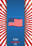 4th July Oblong Flyer Banner Stock Image