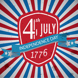 4th of July Old grunge Banner Stock Image