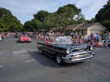 Old cars at 4th of July parade Royalty Free Stock Image