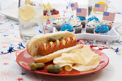 4th of July Party Table Royalty Free Stock Photography