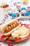 4th of July Party Table Stock Image