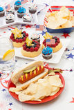 4th of July Party Table Stock Images