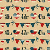 4th of July pattern Royalty Free Stock Image
