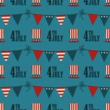 4th of July pattern Royalty Free Stock Photo