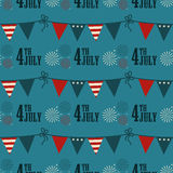 4th of July pattern Stock Photos