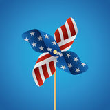 4th of July with Pinwheel. Stock Photo
