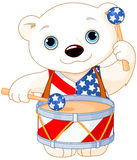 4th of July Polar Bear Royalty Free Stock Image