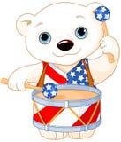 4th of July Polar Bear. Illustration of Polar Bear celebrating 4th of July stock illustration