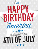 4th of July poster Royalty Free Stock Image