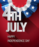 4th july poster Royalty Free Stock Image