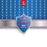 4th July Protection Shield Stars Stripes cover Stock Images