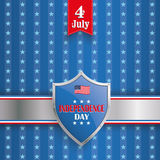 4th July Protection Shield Stars Stripes Stock Images