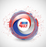 4th of july red, white and blue graphic. Illustration design over a white background Stock Photo